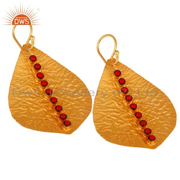 Exporter texture coral Earring,92.5 handmade Texture Earring,Gold Plated Earring