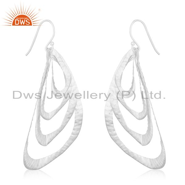 Exporter Handmade 92.5 Sterling Silver Leaf Designer Earrings Manufacturer of Jewellery