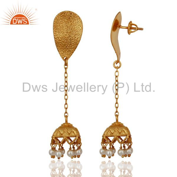 Exporter Indian Gold Plated Silver Womens Traditional Earrings Jewelry