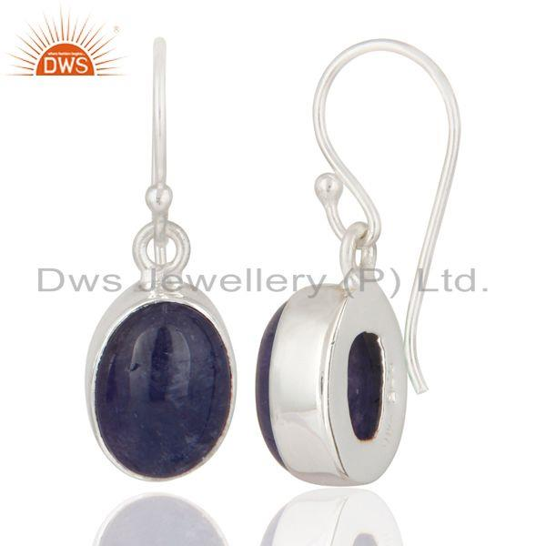 Exporter Handmade 925 Sterling Silver Natural Tanzanite Fine Gemstone Earrings