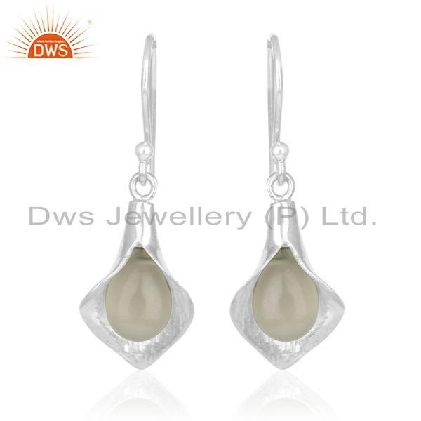 Exporter Designer Sterling Silver Chalcedony Gemstone Private Label Earring Manufacturer