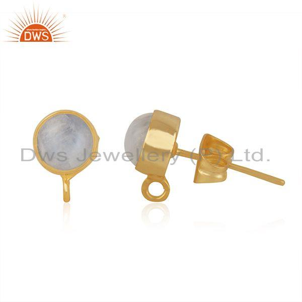 Exporter Gold Plated Brass Jewelry Findings Manufacturer of Moonstone Earrings