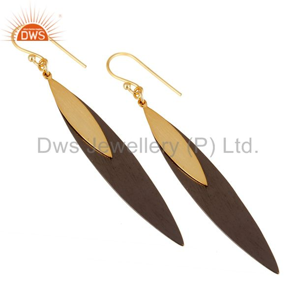 Exporter 18k Gold Plated Sterling Silver Handmade Simple Design Drop/Dangle Earrings