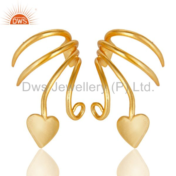 Exporter Traditional Handmade Art Brass Earrings Jewellery With 18K Gold Plated