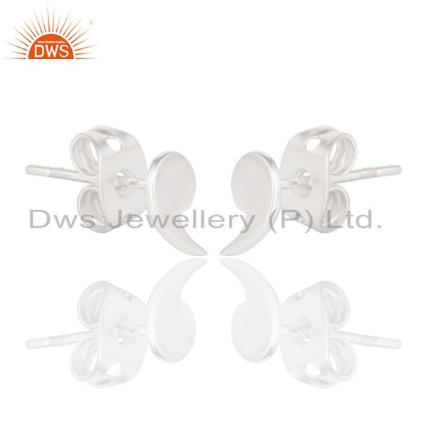 Exporter Solid 925 Sterling Silver Handmade Little Fashion Design Studs Earrings Jewelry