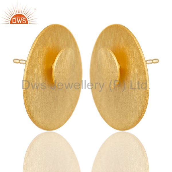Exporter 14K Gold Plated 925 Sterling Silver Handmade Double Way Jacket Studs Earrings