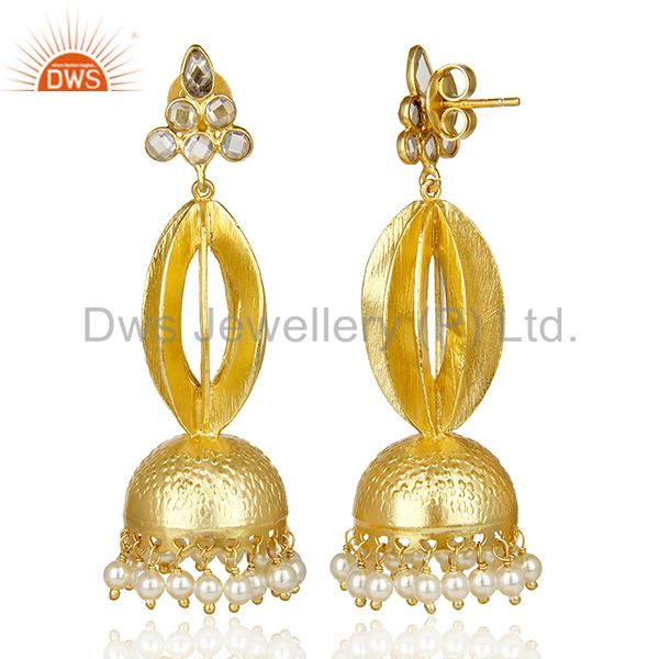 Exporter Gold Plated Silver Chendelier Earring Make For Some Lovely Indian Bridal Wear