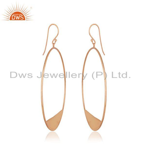Exporter 14k Rose Gold Plated 925 Silver Handmade Earrings Wholesale Suppliers