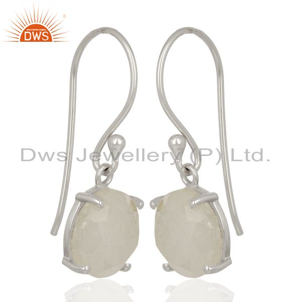 Exporter Rainbow Flat Shape Pefect Drop High Finish Wholesale Sterling Silver Earrings