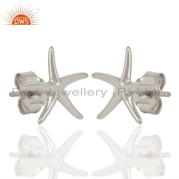 Exporter Handmade 925 Sterling Silver Star Design Stud Earrings Manufacturer