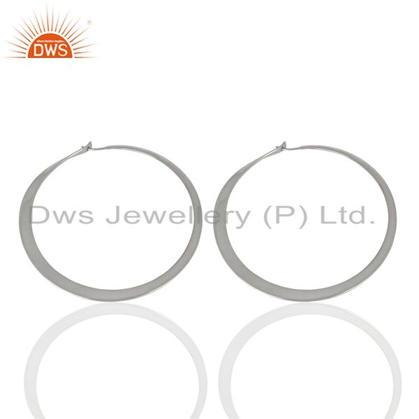 Exporter Wholesale Sterling Fine Silver Womens Hoop Earrings Jewelry Supplier