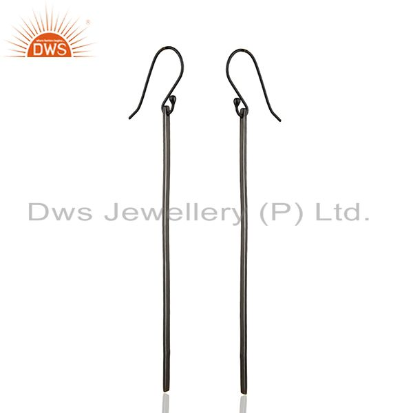 Exporter Black Rhodium Plated 925 Silver Womens Fashion Earrings Manufacturer