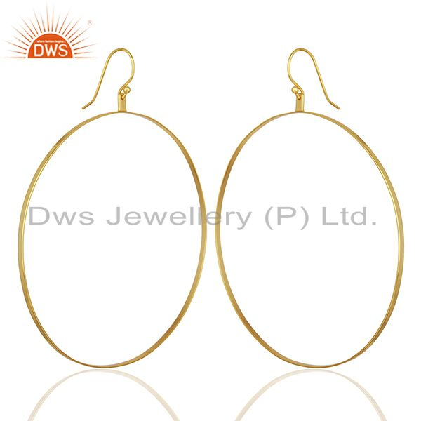 Exporter Gold Plated Circal Design Silver Girls Earring Jewelry Manufacturer