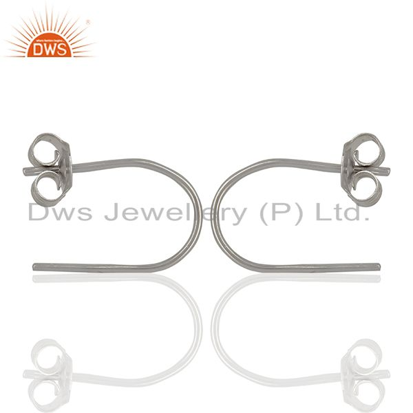 Exporter New Design Sterling Fine Silver Handmade Earrings Jewelry Wholesale