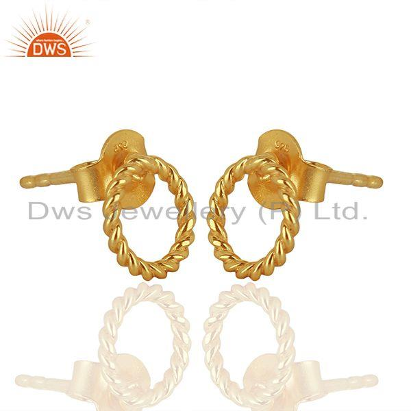 Exporter Handmade Gold Plated 925 Sterling Silver Girls Earrings Supplier
