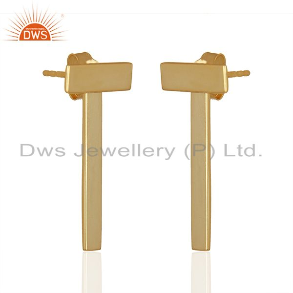 Exporter Handmade 92.5 Sterling Silver Gold Plated Earrings Jewellery Wholesale
