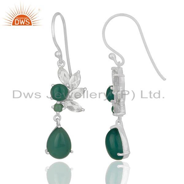 Exporter Multi Gemstone 925 Silver Designer Earrings Jewelry Manufacturer