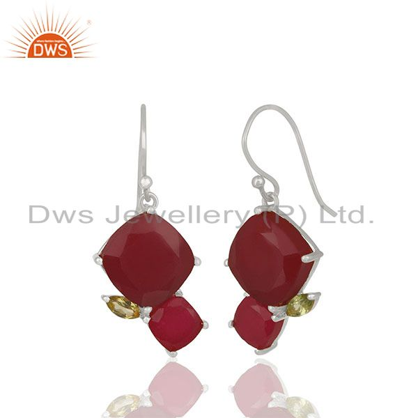 Exporter Designer 925 Silver Multi Gemstone Women Gift Earrings Wholesale