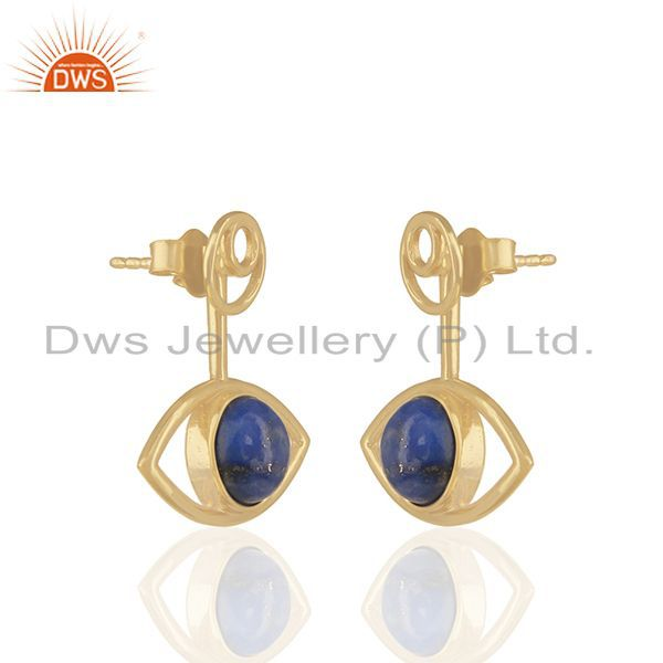 Exporter 14k Gold Plated Sterling 92.5 Silver Gemstone Earrings Manufacturers