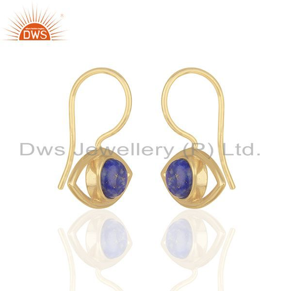 Exporter 14k Gold Plated 925 Sterling Silver Natural Gemstone Earrings Supplier