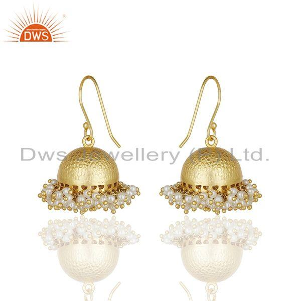 Exporter Indian Handmade 925 Silver Natural Pearl Traditional Earrings Wholesale