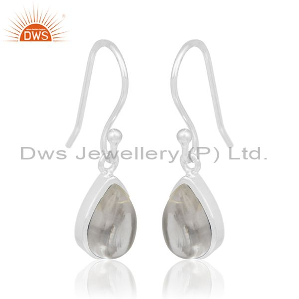 Exporter Simple Design 925 Silver Crystal Girls Earrings Manufacturer from Jaipur