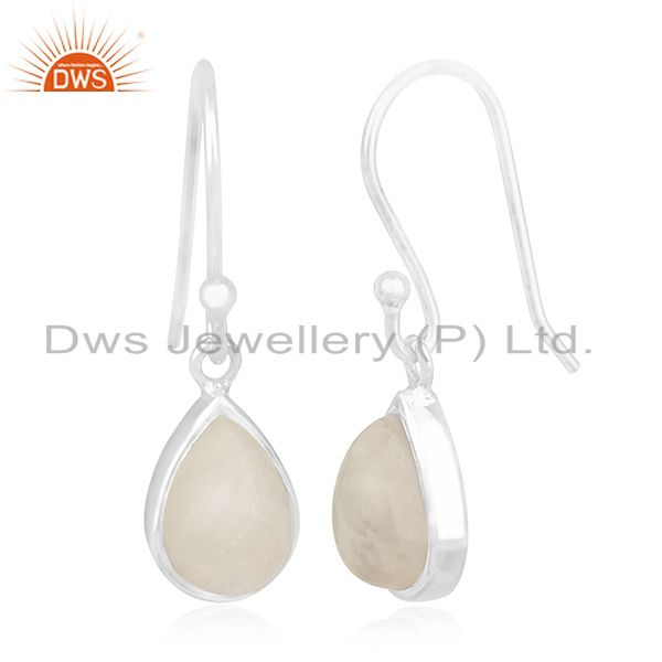 Exporter Rainbow Moonstone Sterling Silver Private Label Earring Jewelry Manufacturer