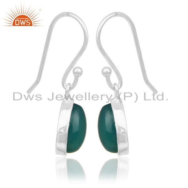 Exporter Green Onyx Gemstone 92.5 Silver Private Label Earring Manufacturer India