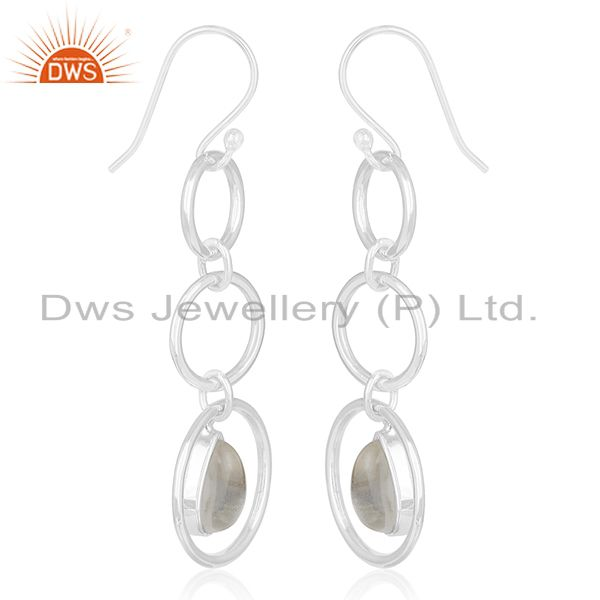 Exporter Crystal Quartz Private Label Sterling Silver Earring jewelry Manufacturers