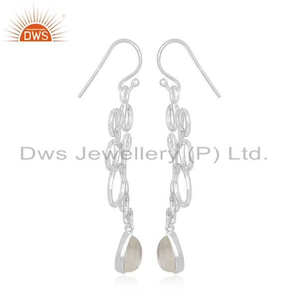 Exporter 925 Sterling Silver Handmade Chalcedony Gemstone Earring Manufacturer from India