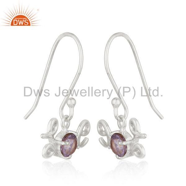 Exporter Fine Sterling Silver Initial Love Amethyst Custom Earring Manufacturer India