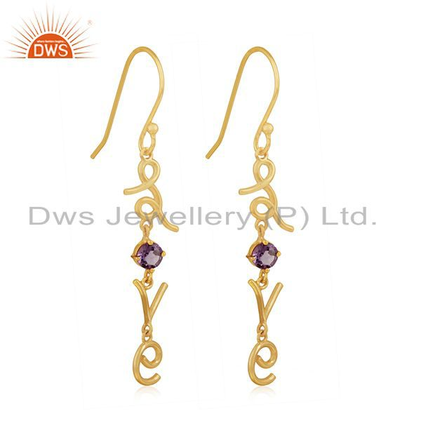 Exporter Custom Love Intial Silver Earring Jewelry Manufacturer for Designers From India