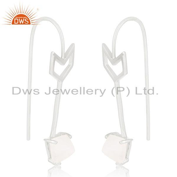 Exporter Fine Sterling Silver Arrow Design Natural Gemstone Custom Earring Manufacturer