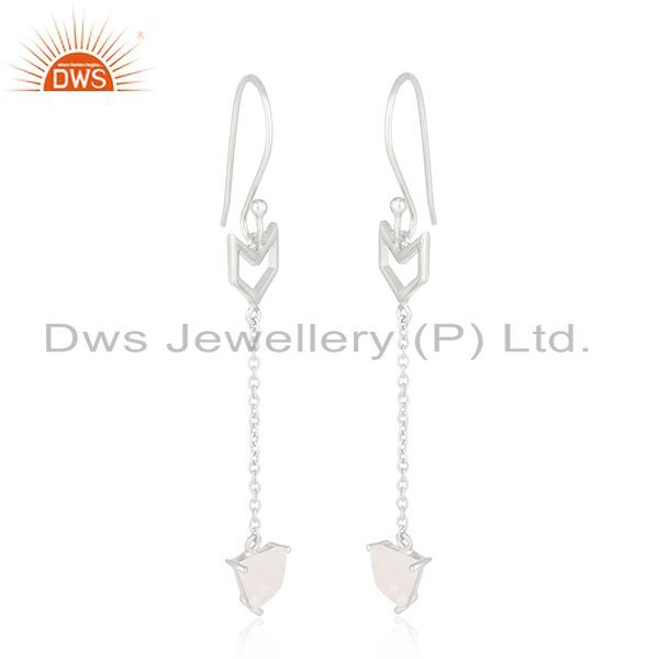 Exporter Arrow Shape 92.5 Sterling Silver Customized Earring Jewelry Manufacturers