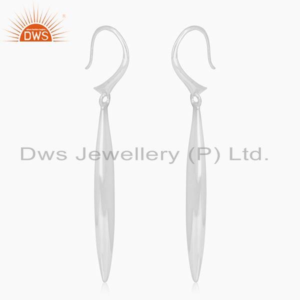 Exporter Solid 92.5 Sterling Silver Handmade Earrings For Girls Jewelry Manufacturer