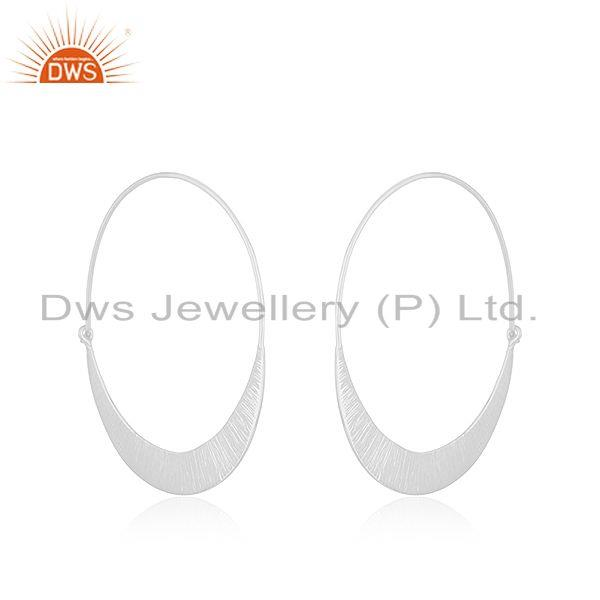 Exporter Handmade 925 Sterling Silver Hoop Earrings Jewelry Manufacturer of Custom Design