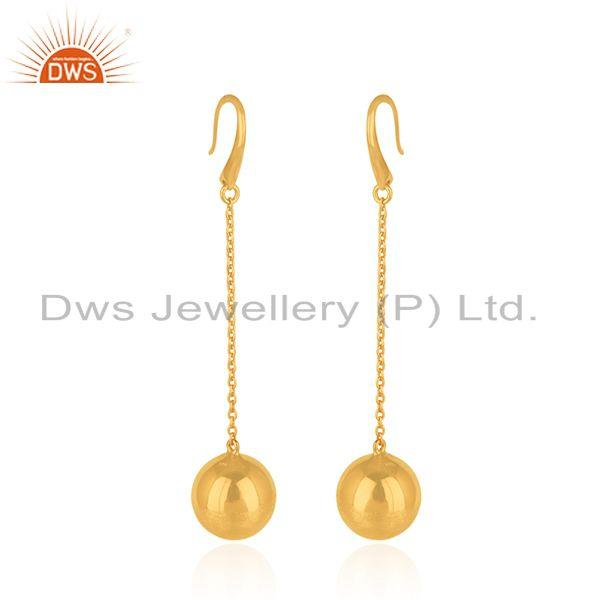 Exporter Handmade Gold Plated Silver Chain Earrings Jewelry Manufacturer