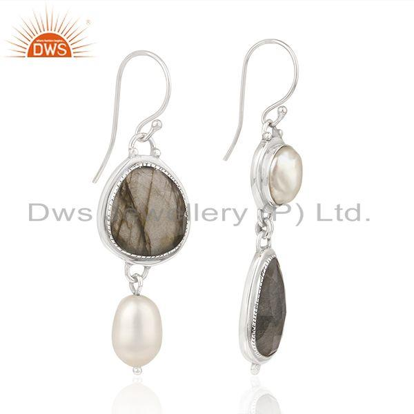 Exporter Natural Multi Gemstone New Arrival Sterling Fine Silver Earrings