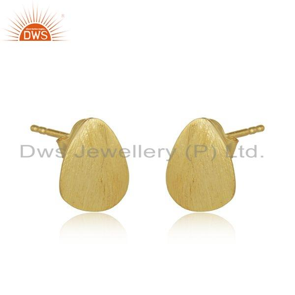 Exporter Designer 18k Gold Plated Wholesale Womens Stud Earrings Jewelry