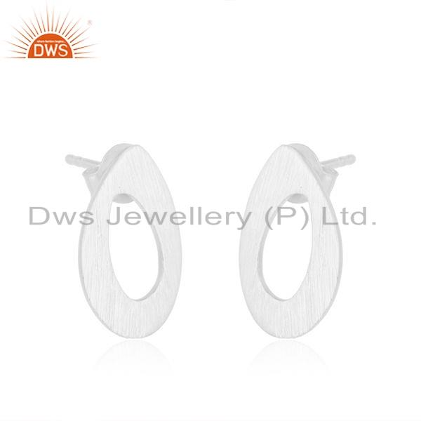 Exporter Wholesale 925 Sterling Fine Silver Texture Earrings Jewelry For Womens