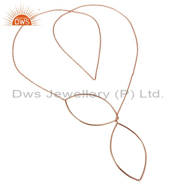Exporter Rose Gold Plated Solid Sterling Silver Wire Chain Necklace