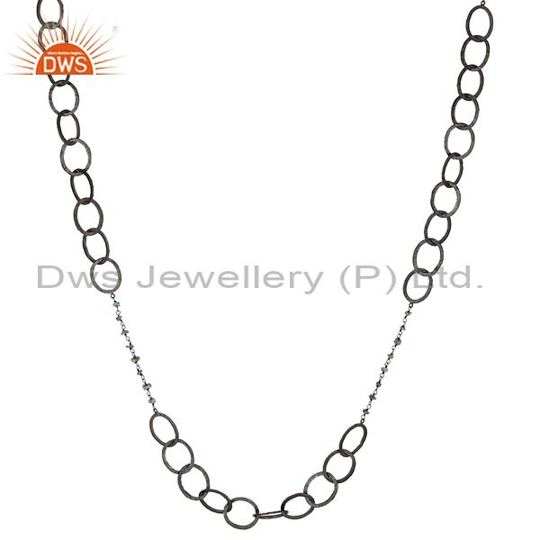 Exporter Black Oxidized Handmade Blue Diamond 48