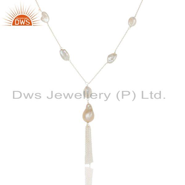 Suppliers Sterling Silver FreshWater Pearl Gemstone 16 inch Necklace