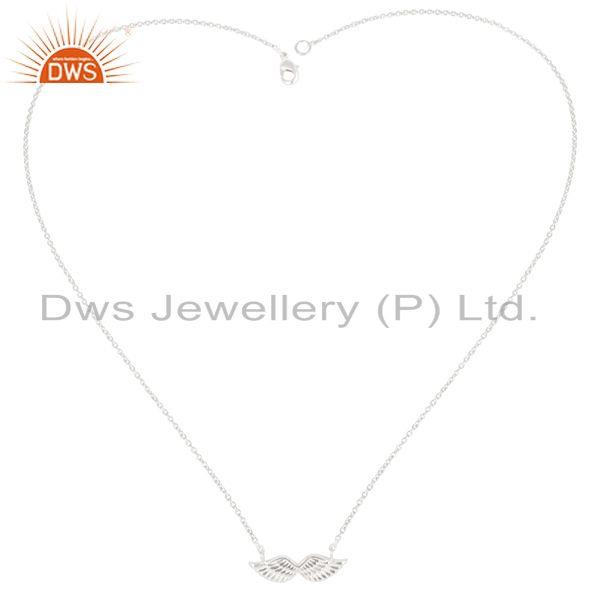 Exporter Silver Plated 925 Sterling Silver Handmade Birds Wings Design Chain Pendant