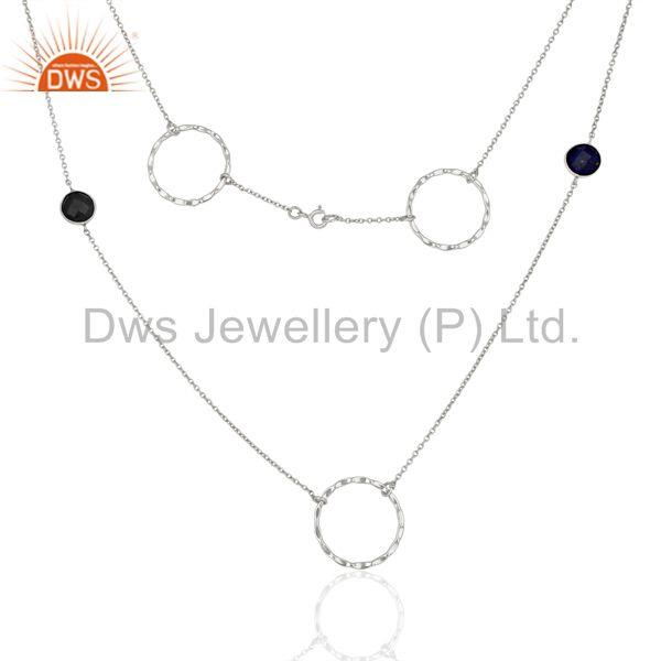 Exporter Handmade Gemstone 925 Sterling Fine Silver Necklace Jewelry Supplier