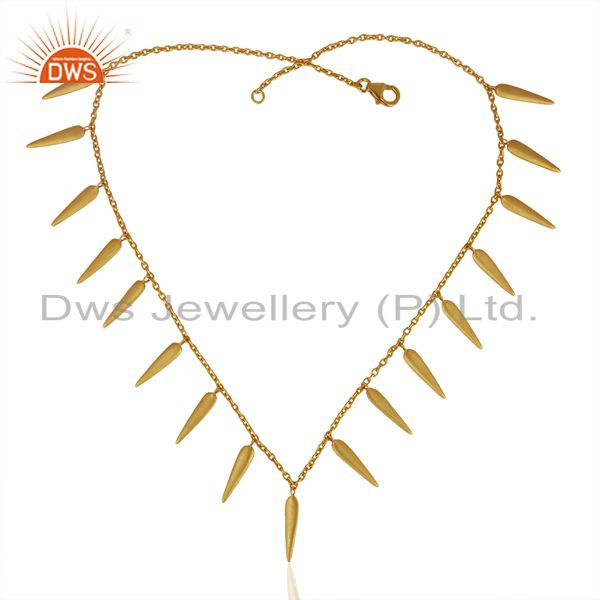 Exporter Handmade Gold Plated 925 Silver Designer Necklace Manufacturer