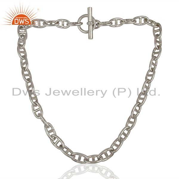 Exporter Chaine d Ancre 925 Sterling Silver Necklace Jewelry