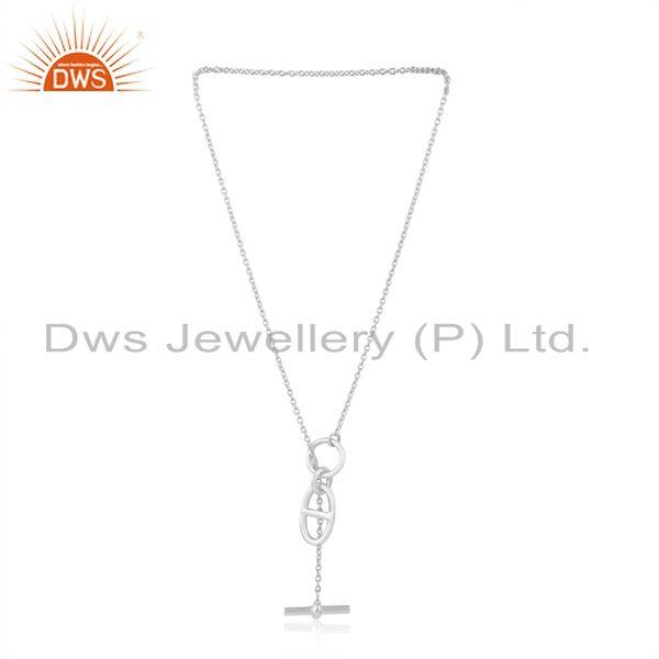Exporter Fine Sterling Silver Chain and Link Necklace Pendant Manufacturer of Jewelry