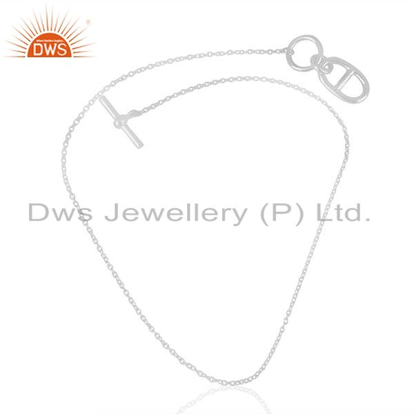 Exporter Amulette Chaine d Ancre 92.5 Sterling Silver Pendant And Necklace Jewelry