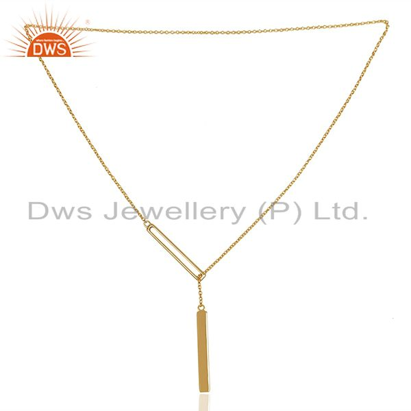 Exporter Genuine 92.5 Sterling Silver Gold Plated Chain Pendant Manufacturers